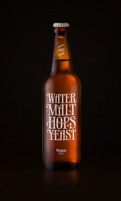 Typographic beer label