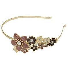 I'd love this.  A necklace with this design, would also be too cute.  L. Erickson Jasmine Headband.  $38