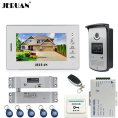 JERUAN Home Wired 7 inch LCD video door phone Entry intercom system kit waterproof 700TVL RFID Access IR Night Vision Camera #Affiliate