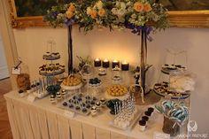 19. Navy Gold Wedding,Sweet table decor | Sweets / Granatowo - złote wesele,Dekoracja słodkiego stołu,Anioły Przyjęć