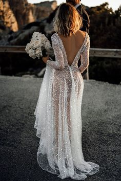 24 Top Wedding Dresses For Bride ❤ top wedding dresses sheath with spaghetti straps lace for beach tali photography ❤ Top Wedding Dresses, Fit And Flare Wedding Dress, Wedding Dress Trends, Sexy Wedding Dresses, Bridal Dresses, Elegant Dresses, Wedding Ideas, Sheer Wedding Dress, Trendy Wedding