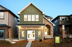 Take a photo tour of Broadview Homes. We unite a contemporary building philosophy & essential design considerations to create luxurious modern living. Contemporary Building, New Home Communities, New Home Builders, How To Take Photos, Calgary, Photo Galleries, New Homes, Exterior, House Design