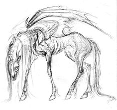 horse demon by unkraut.deviantar… on horse demon by unkraut. Creepy Sketches, Demon Drawings, Creepy Drawings, Dark Art Drawings, Creature Drawings, Horse Drawings, Creepy Art, Animal Drawings, Monster Drawing