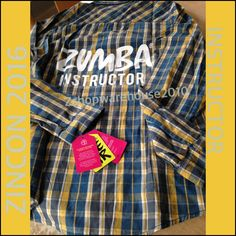 ZUMBA CONVENTION EXCLUSIVE INSTRUCTOR FLANNEL Shirt Top~Mell-Oh Yellow Z3T00063L #Zumba #ShirtsTops