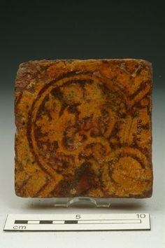 Floor tile, 13th-14th century | Museum of London