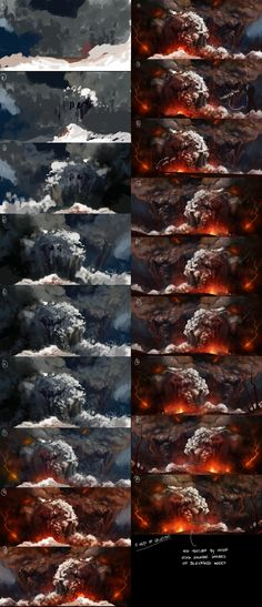 Eruption - steps by TitusLunter on deviantART