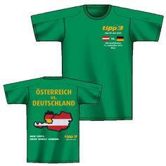 Österreich vs. Deutschland. Wer tippt, sieht Spiele anders. Sports, Mens Tops, T Shirt, Games, Germany, Hs Sports, Supreme T Shirt, Tee Shirt, Sport