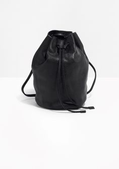 & Other Stories | Drawstring Leather Backpack
