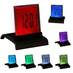 Digital Charming 7 Color LED Alarm Clock Thermometer