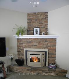 Faux Stacked stone for fireplaces