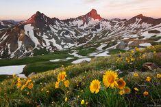 Fourteener Wetterhorn Peak in the San Juan Mountains of southwest Colorado.