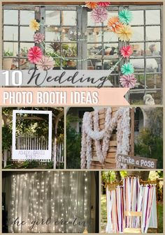 Wedding Photo Booth Ideas | The Girl Creative DIY PHotography Backdrops, Photo Booth Props #wedding #photography