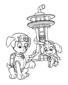 paw patrol skye and zuma behind a tower coloring pages printable and coloring book to print for free. Find more coloring pages online for kids and adults of paw patrol skye and zuma behind a tower coloring pages to print. Halloween Coloring Pages, Cartoon Coloring Pages, Disney Coloring Pages, Christmas Coloring Pages, Coloring Pages To Print, Coloring Pages For Kids, Coloring Sheets, Coloring Books, Colouring