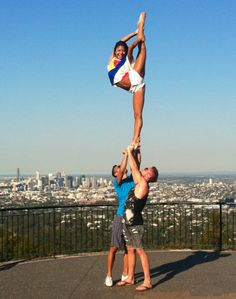 Perfect needle looking over the city. #cheerleader #cheerleading #cheer