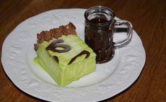 Recette de Parfait à la Chartreuse Verte et sa sauce chocolat (moule carré flexipat) - i-Cook'in