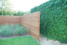 Tuinafsluiting Free Willy in Afrormosia Back Gardens, Outdoor Gardens, Outdoor Life, Outdoor Living, Garden Design Pictures, Modern Fence, Fire Pit Backyard, Garden Landscape Design, Decks And Porches