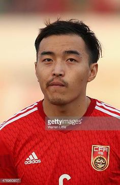 A portrait of Feng Xiaoting of China during the Asian Cup Qualification match between China and Iraq at the AlSharjah Stadium on March 5 2014 in...