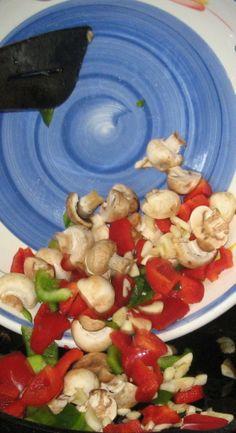 Adding Veggies for Breakfast Skillet