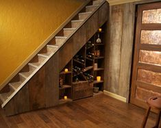 Image result for under stairs wine storage