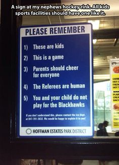 good reminder to parents living vicariously through there kids.