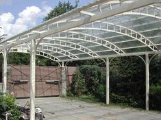 Pergola With Glass Roof Product Steel Structure Buildings, Roof Structure, Metal Buildings, Carport Designs, Garage Design, Victorian Sheds, Carport Covers, Metal Building Kits, Garage Dimensions