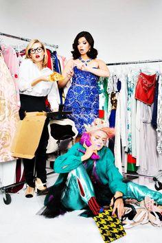 Elisha Cuthbert, Eliza Coupe and Casey Wilson, Photoshoot for Elle Magazine, January 25, 2013.