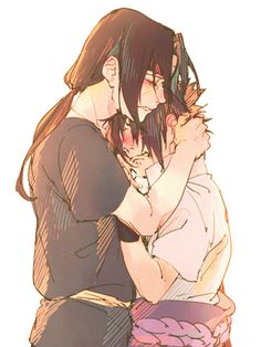 These two brothers loved each other more than pretty much any other two people in the anime. Itachi is a killer role model and protector. Sasuke...well, he was misguided. #naruto