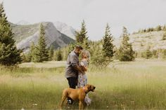Engagement Photos at Lundbreck Falls in Crowsnest Pass with the couples' dogs in the pictures. Photos by Havilah Heger Photography Engagement Shoots, Wedding Engagement, Wedding Day, Banff National Park, National Parks, How Beautiful, Beautiful Places, My Favorite Part, I Love Dogs