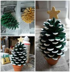 18 pretty decorations that will give a festive touch to your Christmas table and New Year's Day! Recycled Christmas Decorations, Christmas Crafts, Deco Noel Nature, Diy Cadeau Noel, Deco Table Noel, Crafts For Kids, Diy Crafts, Diy Table, Make It Yourself
