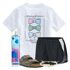 """We r dissecting sharks this whole week"" by flroasburn on Polyvore featuring Vineyard Vines, NIKE, Birkenstock and Tai"