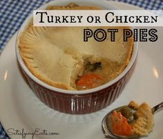 Turkey Pot Pie! www.satisfyingeats.com