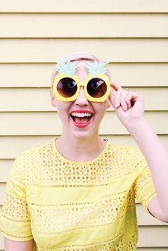 Dress the rainbow in pineapple yellow
