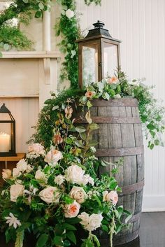 How To Use Barrels At Your Wedding: 53 Ideas Whether you are planning a vineyard, backyard or rustic wedding, pay attention to barrels – they are amazing for wedding decor! Chic Wedding, Wedding Ceremony, Rustic Wedding, Wedding Ideas, Wedding Vintage, Budget Wedding, Trendy Wedding, Spring Wedding, Wedding Table