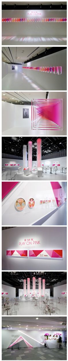 "#IROMIZU RMK 2014 ""PLAY ON PINK""GRAPHIC DESIGN LIGHT AND INSTALLATION"