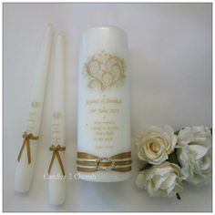 Personalised Unity candles, a unique part of your Wedding Ceremony. Unity candles are personalised just for you to match your colours and theme.