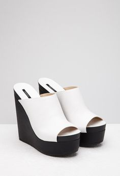 reputable site 2aeb3 00bcb Faux Leather Platform Wedges   Forever 21 Canada Forever 21, Wedges,  Platform, Heel