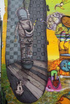 Os Gemeos Mural (NYC) #streetart #graffiti #Street art
