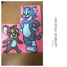 Tom and Jerry perler beads by 1024830y