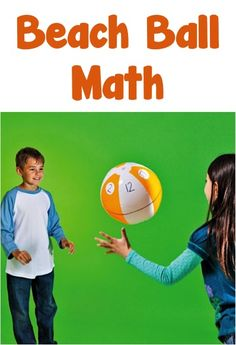 Beach Ball Math! {a fun game to get the kids moving... and learning their math!} #kids #math #games