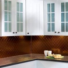 Fasade in. Oil Rubbed Bronze Traditional Style # 1 PVC Decorative Backsplash Panel - The Home Depot Vinyl Backsplash, Decorative Tile Backsplash, Countertop Backsplash, Backsplash Panels, Laminate Countertops, Vinyl Panels, Online Tile Store, Smart Tiles, Tile Trim