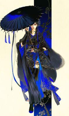 """Tangmen (Tang Clan) from """"Yi Chui Wu Yue Tiao Man Ji"""" by Ibuki Satsuki 伊吹五月 Japanese Painting, Japanese Art, Manga Art, Anime Art, Character Inspiration, Character Art, Chinese Drawings, Anime Kunst, Illustration Art"""