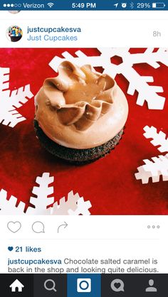 Caramel in frosting cupcake idea