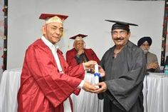Dr. Malla Madhva Rao receiving certificate of Fellowship in minimal access Surgery at World Laparoscopy Hospital. For more detail please log on to www.laparoscopyhospital.com
