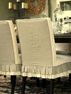 Two Tone Slipcovers White And Off To Greige By Custom Shelley