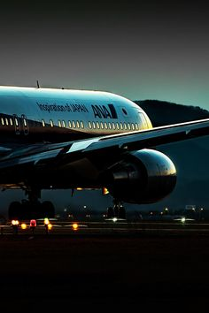 Night Flight - All Nippon Airways (ANA) Boeing Aircraft.....