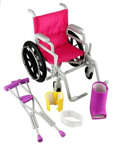 Click n' Play Doll Wheelchair and Crutches Set Perfect For 18 inch American G. Click n' Play Doll Wheelchair and Crutches Set Perfect For 18 inch American G. American Girl Doll Sets, American Girl Crafts, American Girl Stuff, American Girl Dolls, Baby Girl Toys, Toys For Girls, Little Girl Toys, Baby Alive Dolls, Baby Dolls