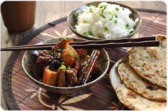 Je ne m'étais jamais vraiment penchée sur la cuisine chinoise, mais depuis quelques temps je m'y intéresse de plus en plus, et je découvre de vrais petits trésors. Comme cette recette du livre Gingembre et Citronnelle (c'est devenu mon livre de cuisine...