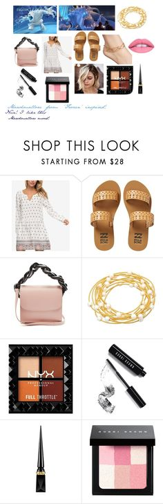 """""""For Scarlett (friend) - Scarlett's ideal wardrobe by me: Marshamallow from 'Frozen' inspired!"""" by sarah-m-smith ❤ liked on Polyvore featuring Disney, Roxy, Billabong, Marques'Almeida, Sugar NY, Bobbi Brown Cosmetics, Christian Louboutin and L.A. Girl"""
