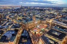 Ville d'Hambourg, en Allemagne.