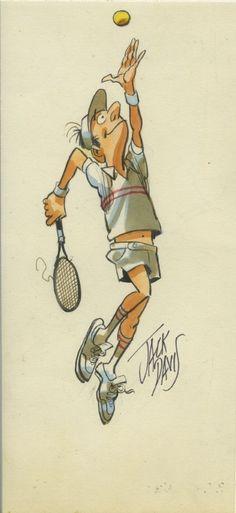 Jack Davis Tennis Player Comic Art